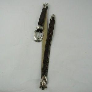 Buckle Source 1991 M Medium Genuine Leather Belt C